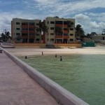 beachside condo from pier in Sisal Yucatancondofrompier