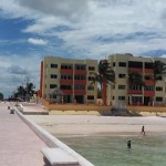 beachside condo from pier in Sisal Yucatancondosbeach2