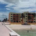 beachside condo from pier in Sisal Yucatancondosbeach2