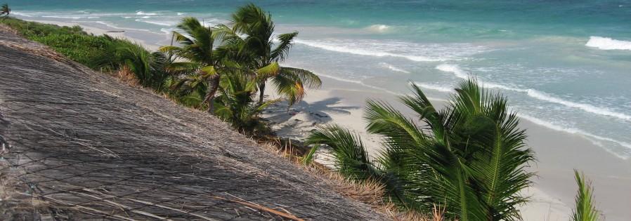 Caribbean beachfront villa in Mahahual on the Costa Maya in Mexico