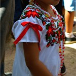 Litle Girl dressed for Hanal Pixan in Merida Yucatan