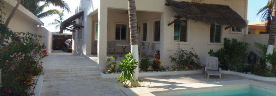 Contemporary beach home in Chuburna Mexico