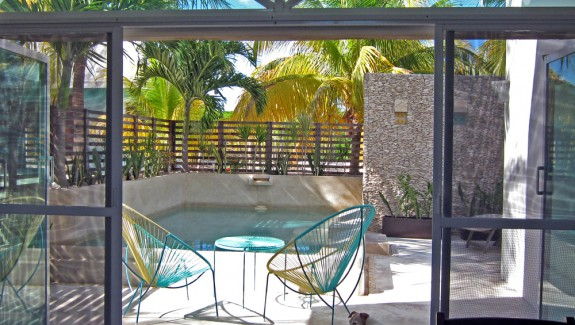 Casa for sale at the beach Chuburna Yucatan Mexico pool