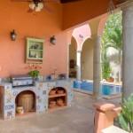 outdoor kitchen  Hacienda style home for sale in Merida Yucatan