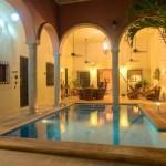 night pool 2  Hacienda style home for sale in Merida Yucatan