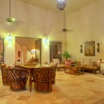 outdoor seating  Hacienda style home for sale in Merida Yucatan