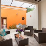 Renewed and renovated colonial in Santa Ana Calle 45_Courtyard