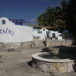 entrance Oasis compound property for sale in Telchac Yucatan Mexico