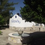 main entrance Oasis compound property for sale in Telchac Yucatan Mexico