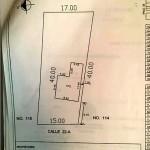 Yucatan beach house for sale - plot map
